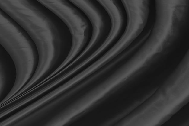 Текстура из черной ткани в качестве фона
