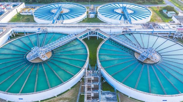 空撮再循環固体接触式浄化装置沈降タンク