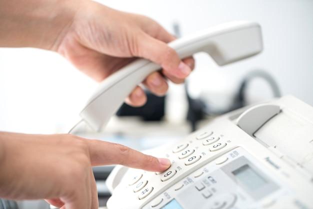 ダイヤル電話キーパッド、コミュニケーションのコンセプト