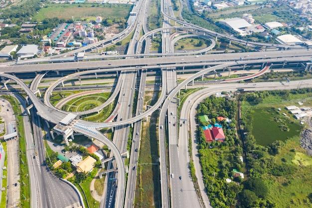 バンコク高速道路のトップビュー、トップビュー