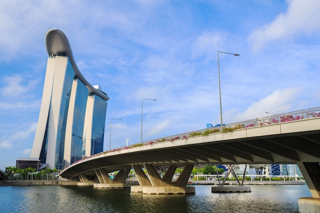 マリーナベイ、シンガポールの道路橋