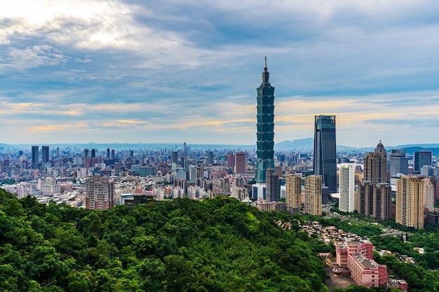 台北、台湾の街並み