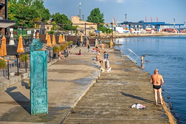 ウクライナ、オデッサのランジェロンビーチ