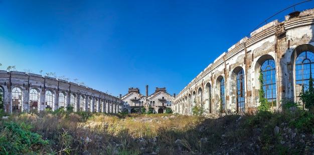 ウクライナの古い放棄された産業工場