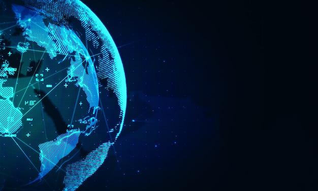 サイバーワールドネットワークの背景。グローバルビジネステクノロジ