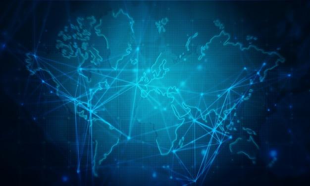 世界のビジネスネットワークの背景