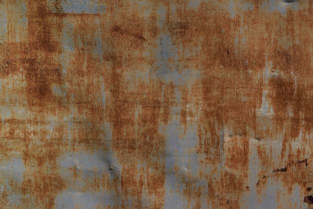 亜鉛板の壁亜鉛テクスチャ上の錆。