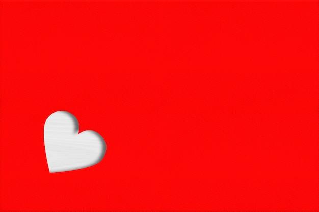 Сердце вырезано на красном фоне бумаги. день святого валентина концепция