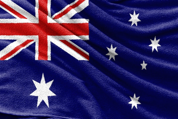オーストラリアの国旗の生地のテクスチャ