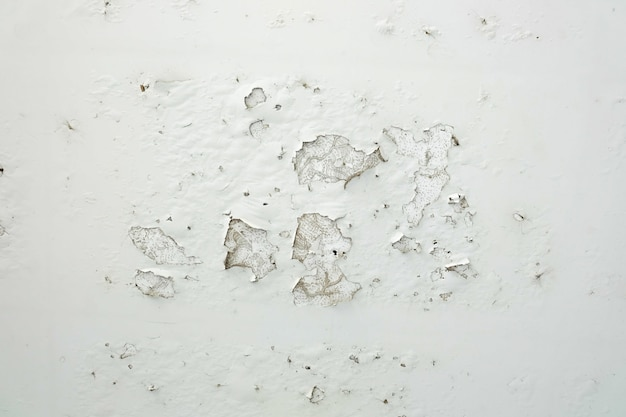 Макрофотография пилинг окрашенные белые стены