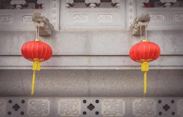 新年祭の間に中国の灯籠