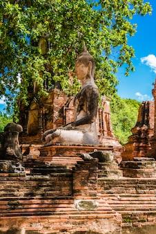 仏、ワット・マハの美しい古代遺跡