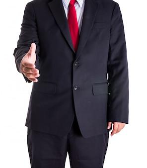 握手を求めて手を与える実業家
