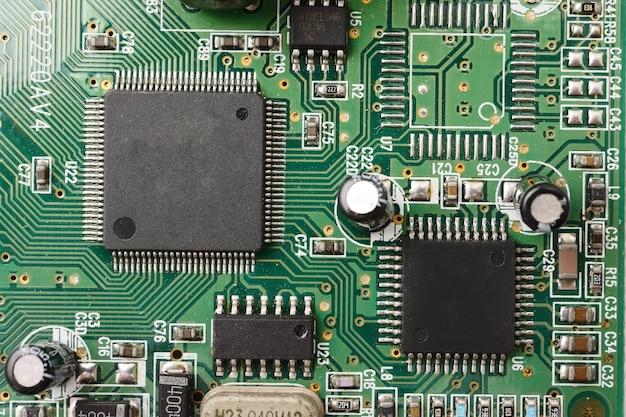 コンピュータ回路基板、電子技術の背景。