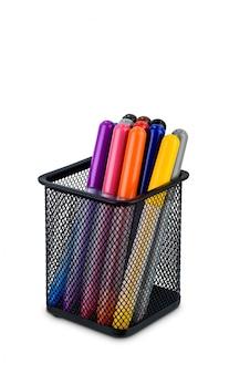 四角い金属製ボックスペン