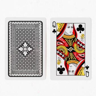 トランプカードとバック白の背景モックアップ
