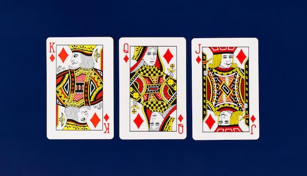 無地のバックグラウンドカジノポーカー付きトランプフルデッキ