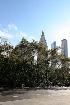 メトロポリタン生命保険会社ビルの時計塔。マディソンスクエアパーク、マンハッタン