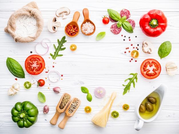 自家製ピザ用の食材