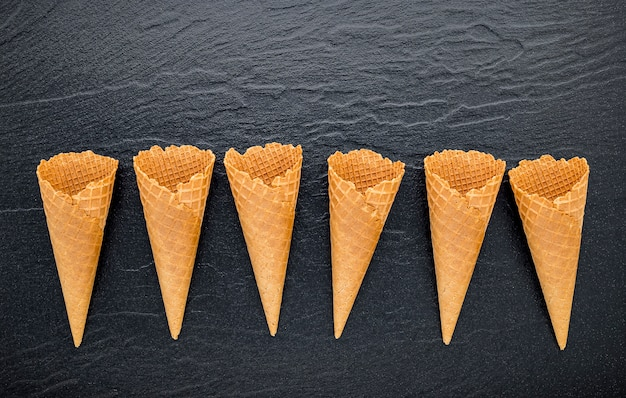 フラットレイアイスクリームコーンコレクション