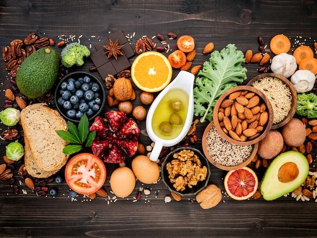 健康食品の選択のための材料を設定します。