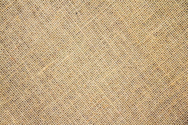 黄麻布の袋の背景とテクスチャー