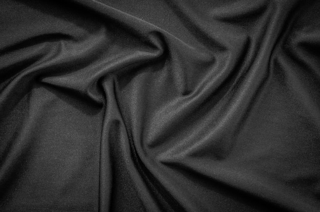 Черная ткань текстура и фон