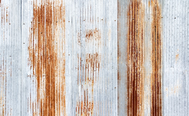 古い亜鉛メッキシートテクスチャ背景