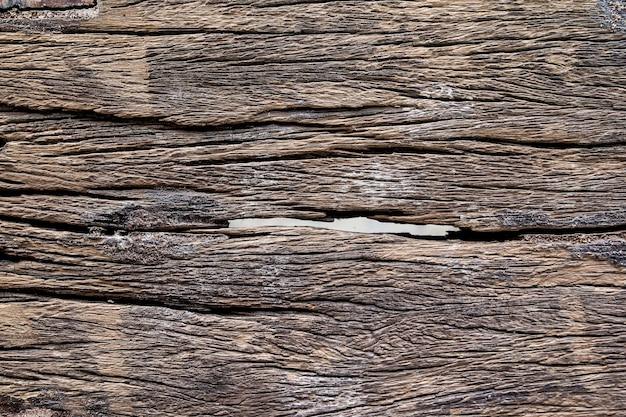 時間、古い木材のテクスチャ背景によって侵食された古い木材の表面。