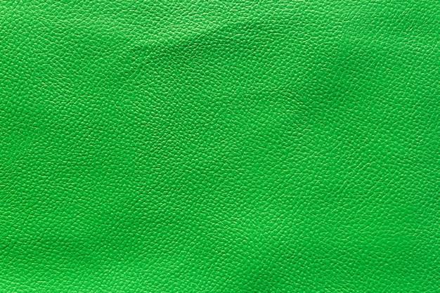 緑の革シートテクスチャの緑の背景