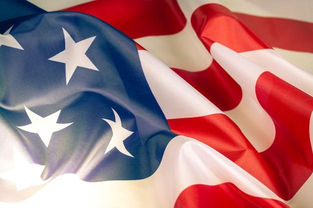クローズアップアメリカ国旗