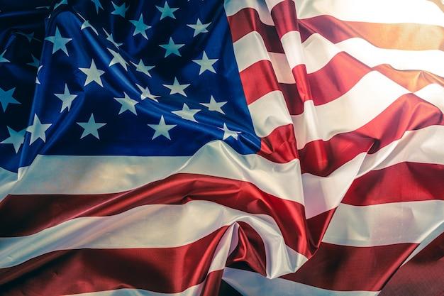 Крупным планом американский флаг фон