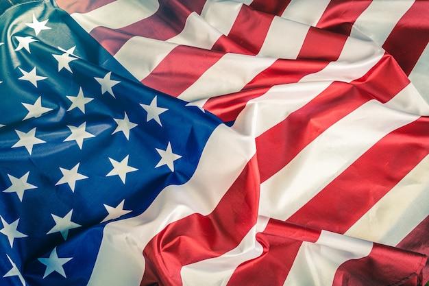 クローズアップアメリカ国旗背景