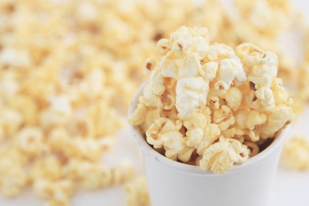Крупный план попкорн