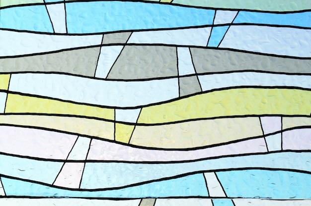 カラフルな窓からすの背景