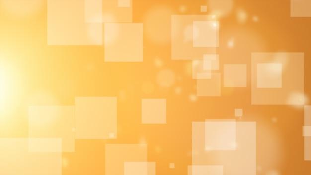 茶色の背景はさまざまなサイズのさまざまな長方形の粒子を持っています