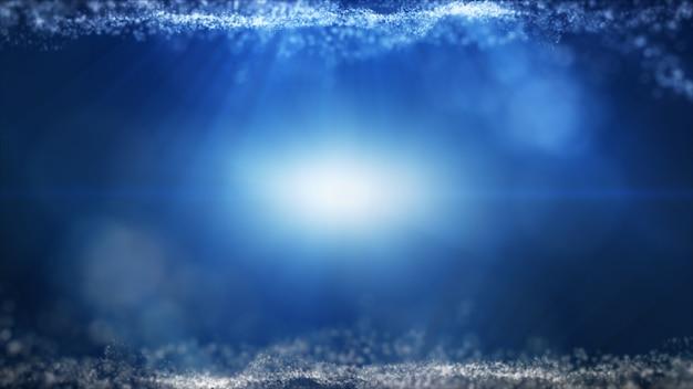 グローブルーダスト粒子キラキラ輝く火花