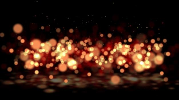 ボケ味のオレンジ色の光の波とデジタル署名。