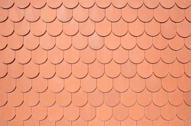 茶色の屋根の背景のシームレスなテクスチャ