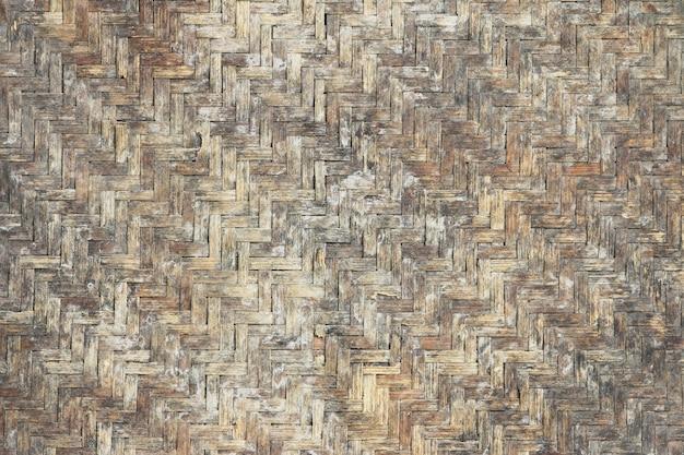 グランジバスケットワークテクスチャ竹のパターン
