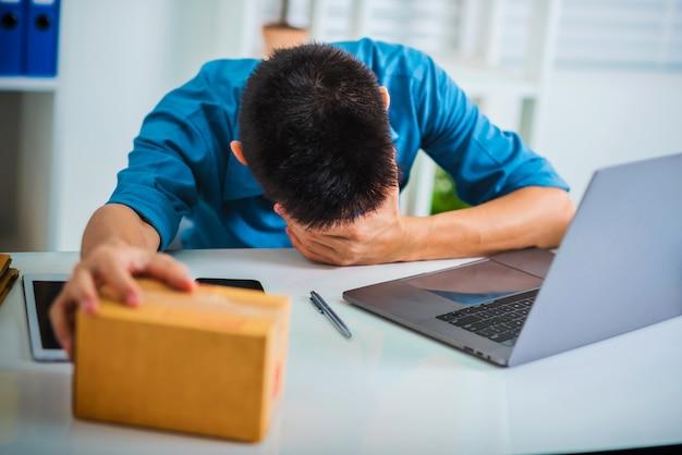 Устали от деловой человек чувствует себя несчастным и стресс.