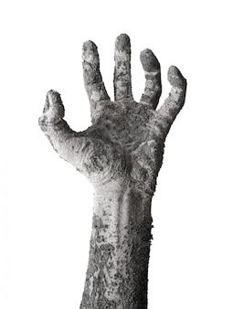 Монстр зомби ручной шланг, изолированных на белом.