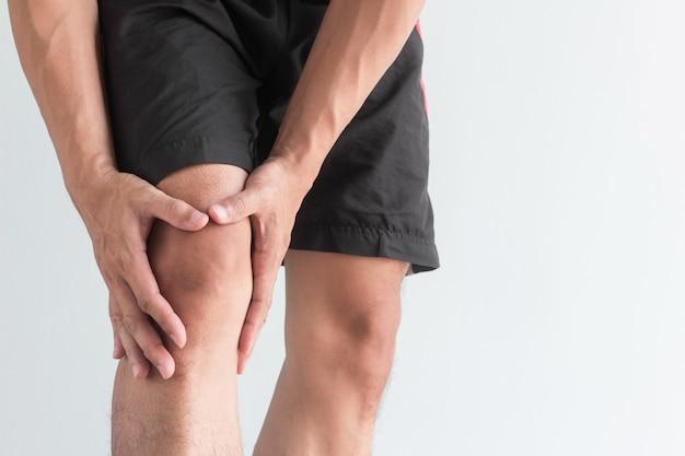 若い、膝、痛みとコピースペース
