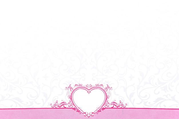 バレンタインデーのためのピンクの心