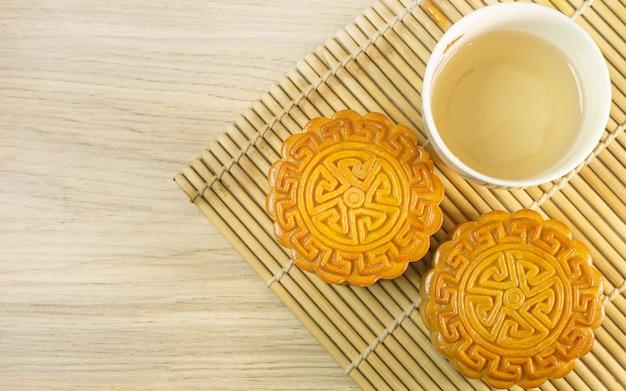 月餅祭りの中国の月餅。