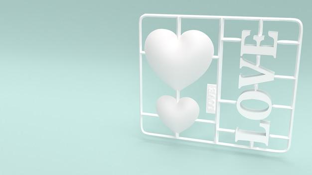 Люблю пластиковый комплект для любви концепции.
