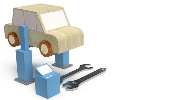 Авто деревянная игрушка для автосервиса
