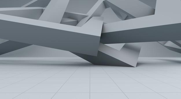 Белый абстрактный фон и пространство