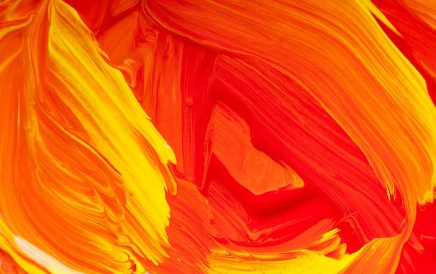 カラフルなアートペイントの背景、黄色と赤
