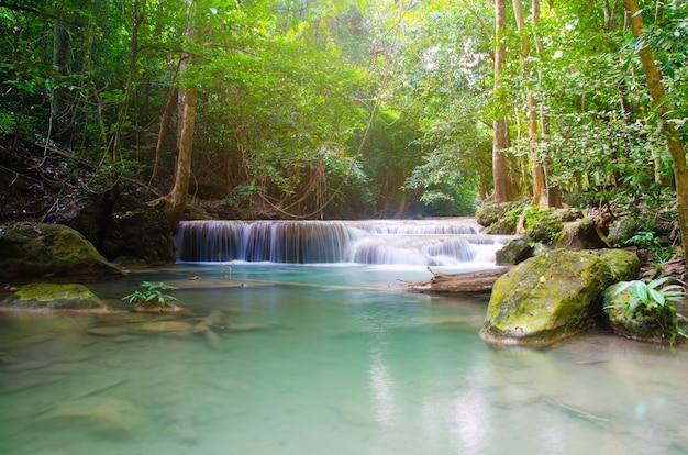 深い森、タイの滝